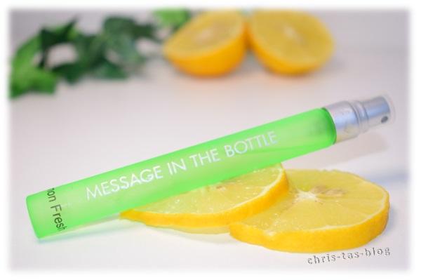 Message in the bottle Lemon fresh