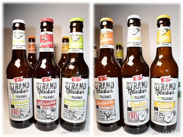 verschiedene Sorten Bier-Mix Getränke