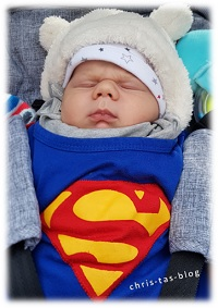 Tyler als Superman Fasching 2017