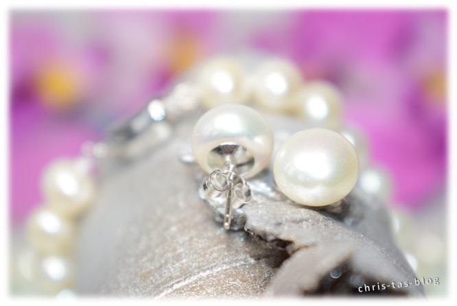 Verschluß Perlen-Ohrstecker