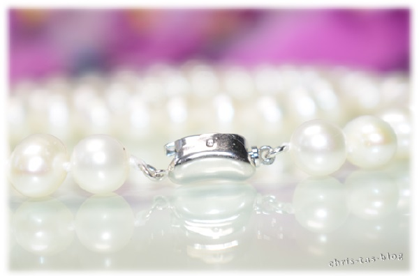 Silber-Verschluß Perlenkette