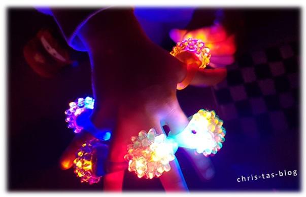 leuchtende Blinkringe