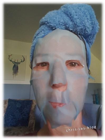 timeless Reiseset - Maske in Anwendung