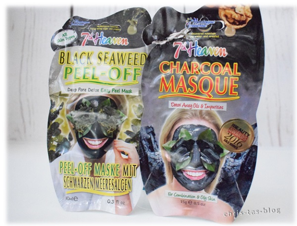 Masken Black Seaweed Peel Off und Charcoal Masque von 7th Heaven