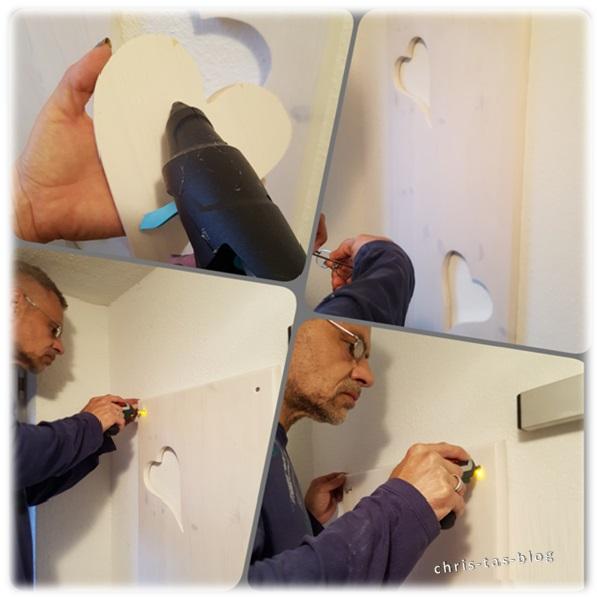 Garderobe an der  Wand anbringen
