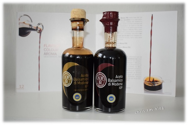 meine beiden Testprodukte Aceto Balsamico di Modena g.g.A.