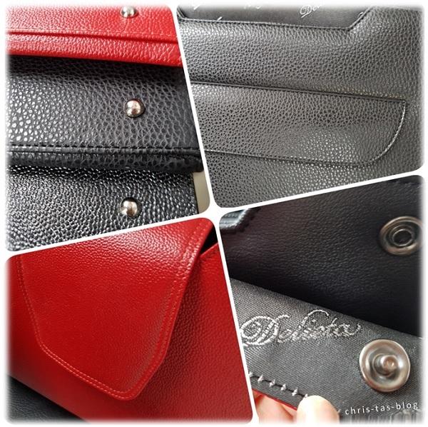 Details an dem Taschendesign Delieta