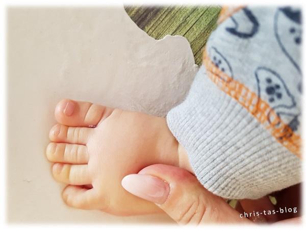 Fußabdruck von meinem Enkelsohn