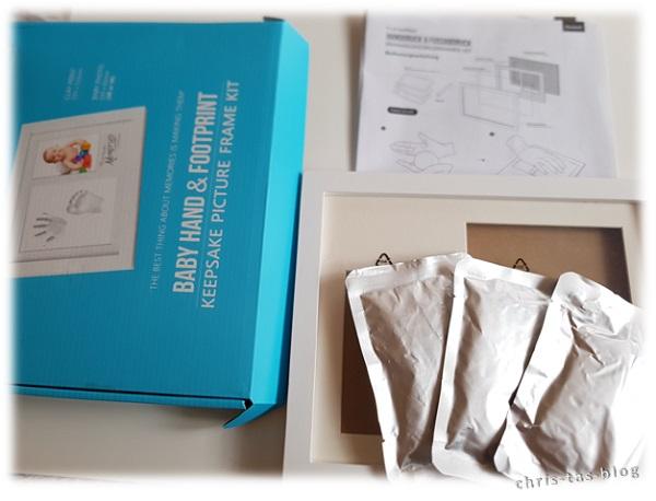 Inhalt Bilderrahmen-Set für Hand- und Fußabdruck