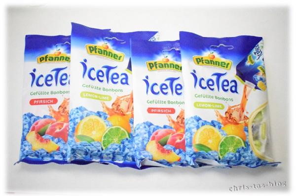 Pfirisch und Lemone-Lime gefüllte iceTea Bonbons