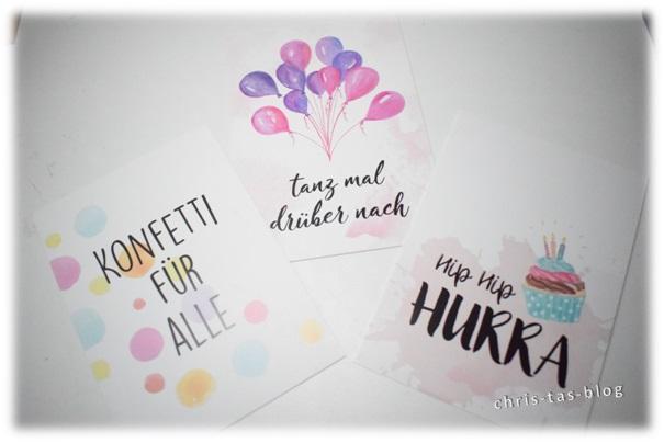 Happy Birthday Karten Brigitte Box