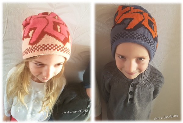 Twinkle Kid beanie Freak in tropical-peach und blautöne-orange