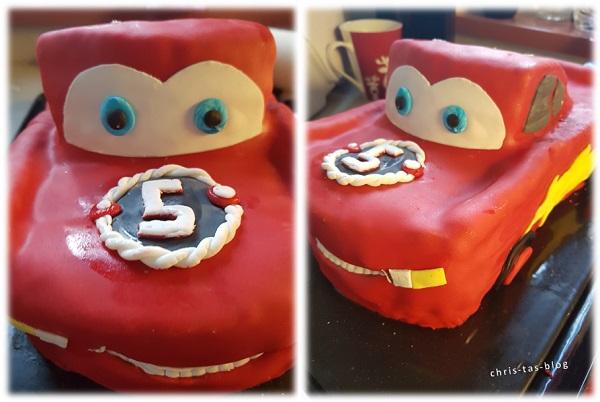 Cars Lightning McQueen Torte mit Fondant dekorieren