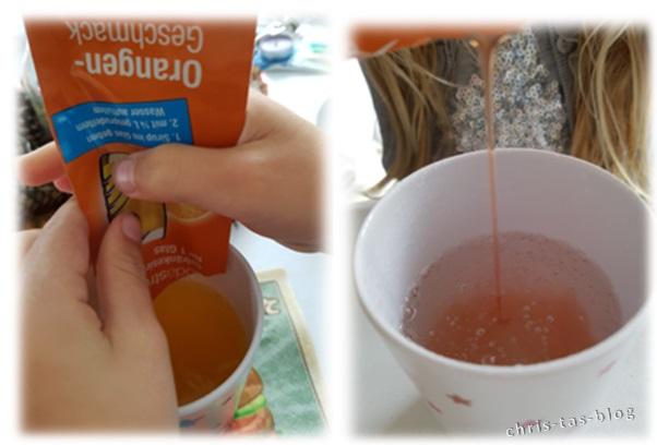 SodaStream Sirup wird ausprobiert