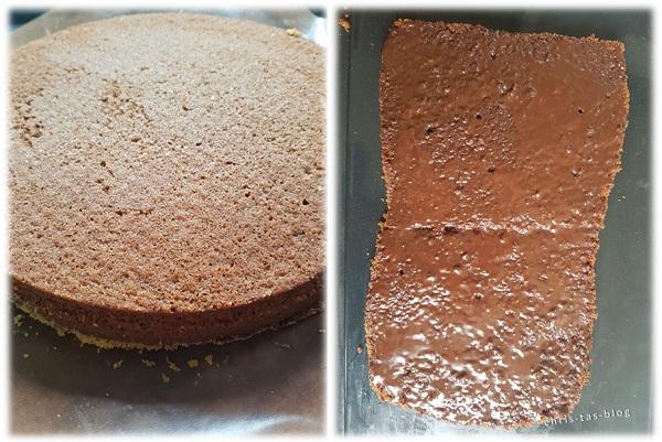 Schokoladenkuchen als Grundform Cars Motivtorte