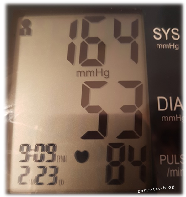 zu hoher Blutdruck - Chris-Ta´s - Blog