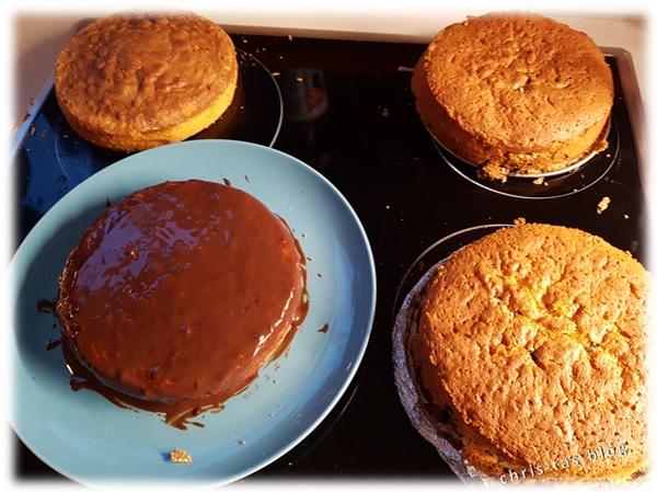 Kuchen für die Biertorte gebacken
