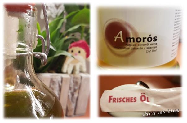 Details der Bügelflasche Olivenöl von Zait