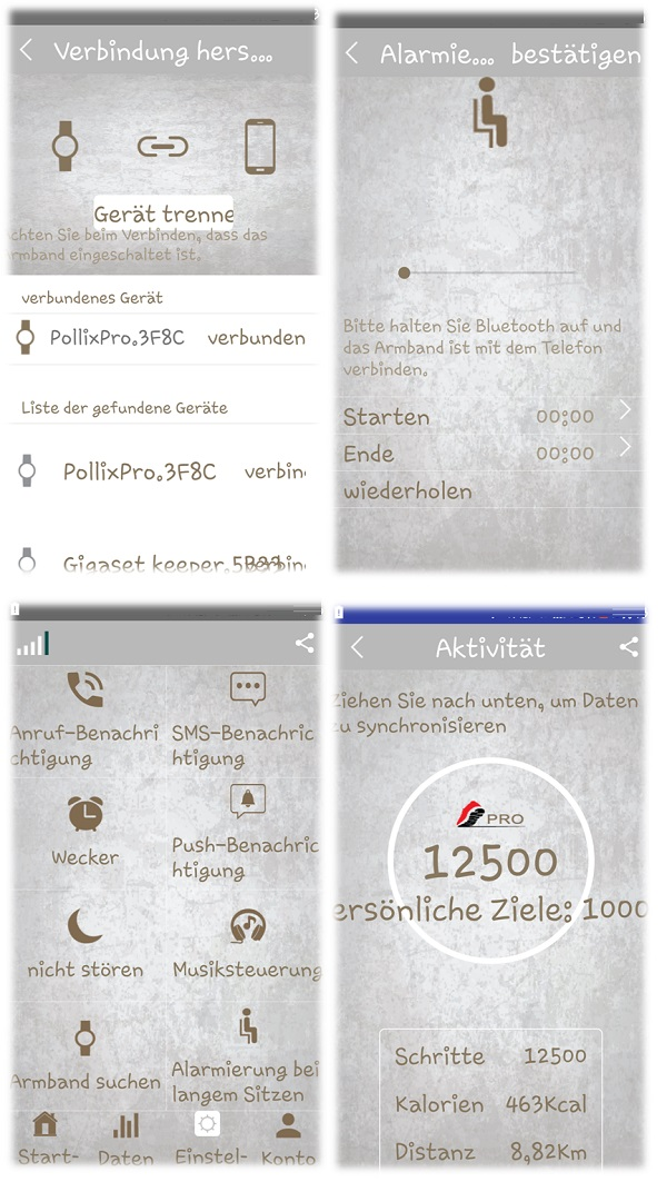 einige Details aus der Pollix Pro App