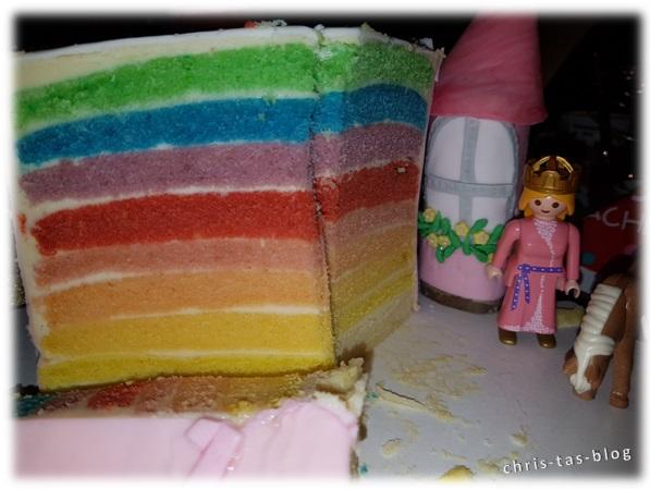 Regenbogentorte für Prinzessinnen Torte
