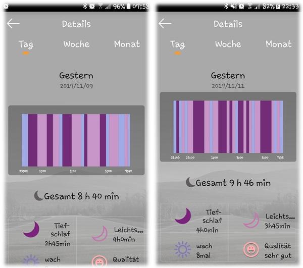 Schlafanalyse Pollix App