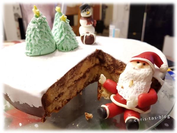 Adventstorte Weihnachtstorte Weihnachtsmann Torte