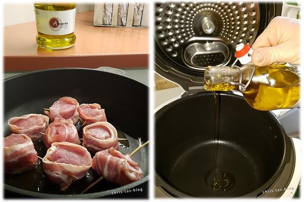 Olivenöl von zait zum Braten