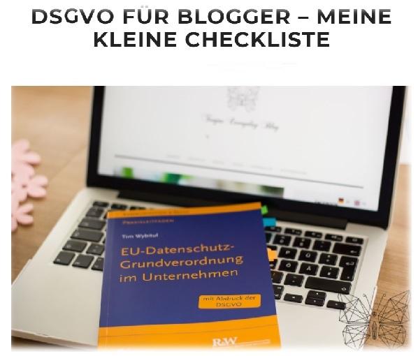 DSGVO - Blogger-Checkliste von Tanja