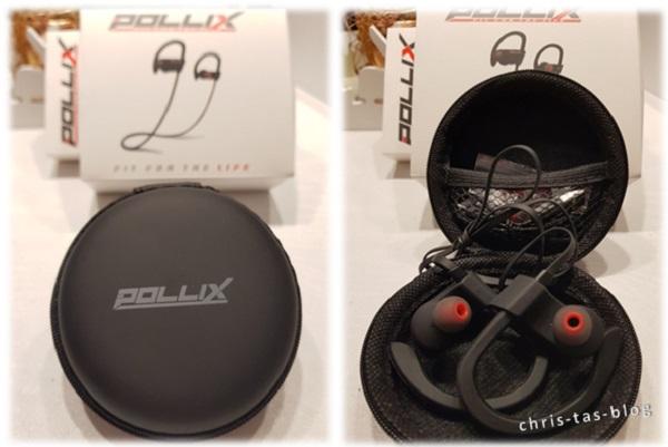 Verpackung der POLLIX FIT bluetooth Kopfhörer