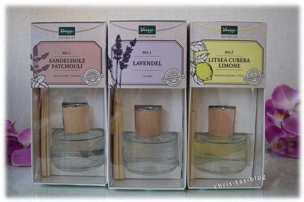 Drei Duftrichtungen der Kneipp® Duftwelten Duftstäbchen