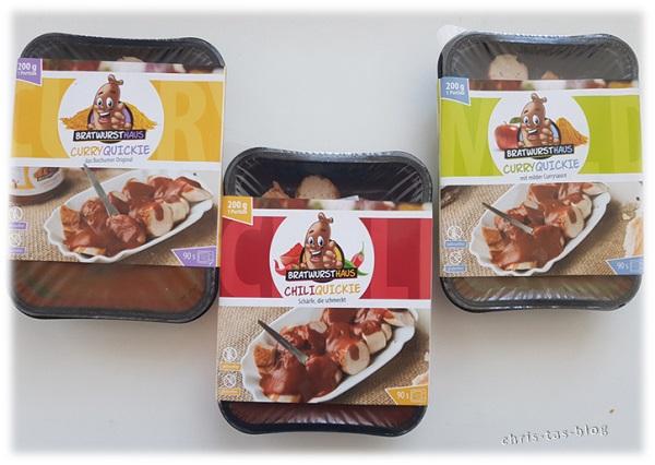 3 verschiedene Sorten Currywurst - von original über mild bis chili-scharf