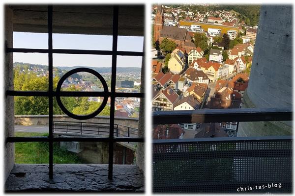 Blick von oben auf Heidenheim