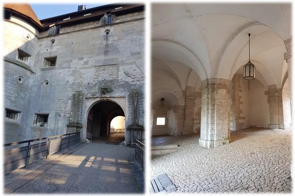 Burg Hellenstein - Innenhof