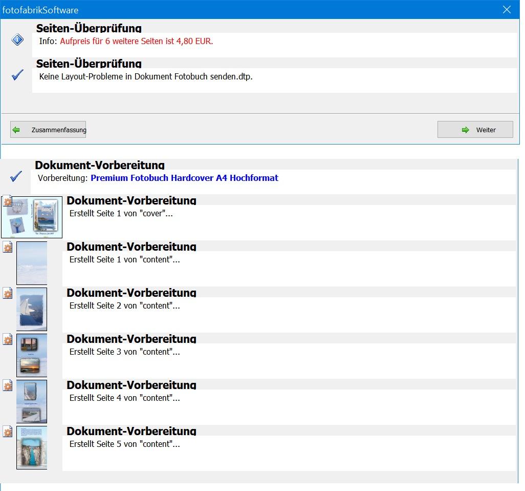 Daten hochladen zu fotofabrik.de