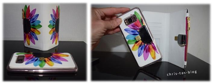 bunte Handyhülle mit Portemonnaie für mein Samsung S8