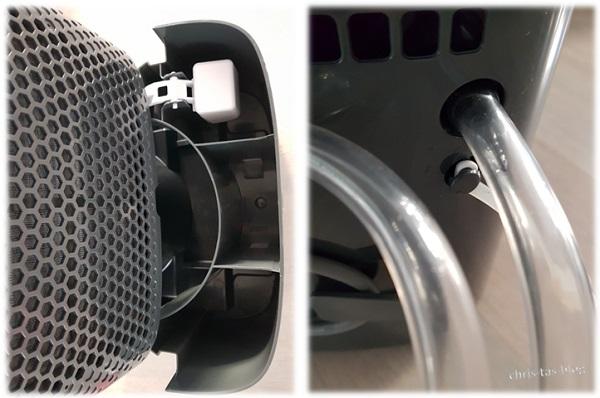 Wasserauffangbehälter und Ablass-Schlauch DryFy10