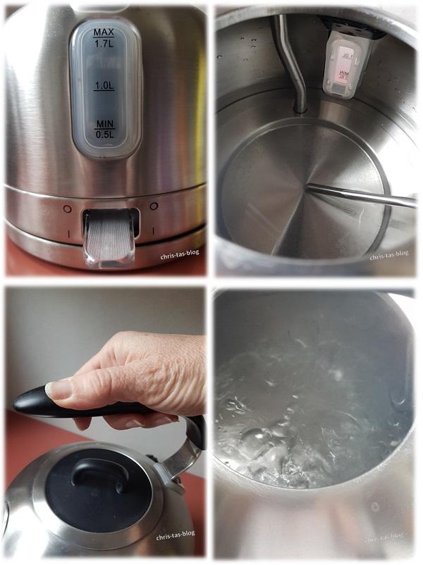 Einzelheiten an dem Carlina Reto Wasserkocher von Klarstein
