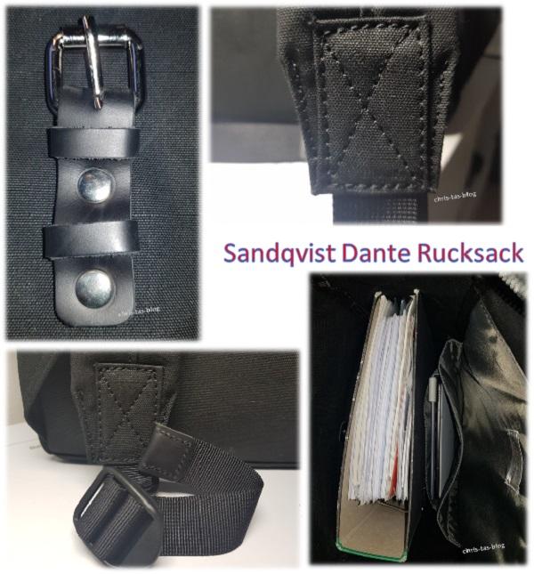 schicke Details an dem Dante Rucksack von Sandqvist