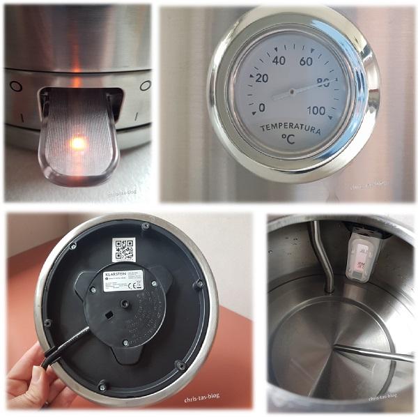 weitere Details am Wasserkocher Carlina von Klarstein