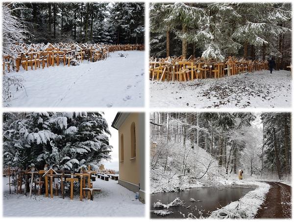 Mystisches Allgäu - Gschnaidt Wallfahrtsort Holzkreuze Heilwasser