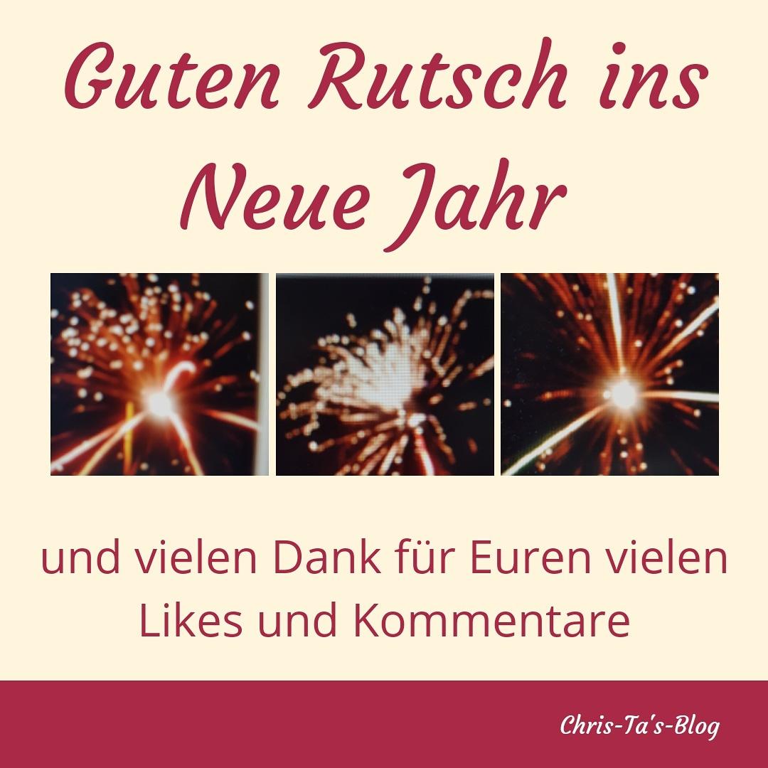 Guten Rutsch ins Neue Jahr 2019 und vielen Dank all meinen Lesern und Followern