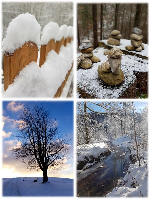 unterwegs im Allgäu bei Schnee