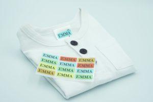 Namensetiketten für Kleidung