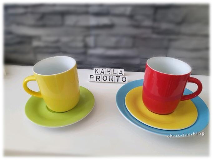 Tassen und Teller aus der Pronto-Serie Kahla
