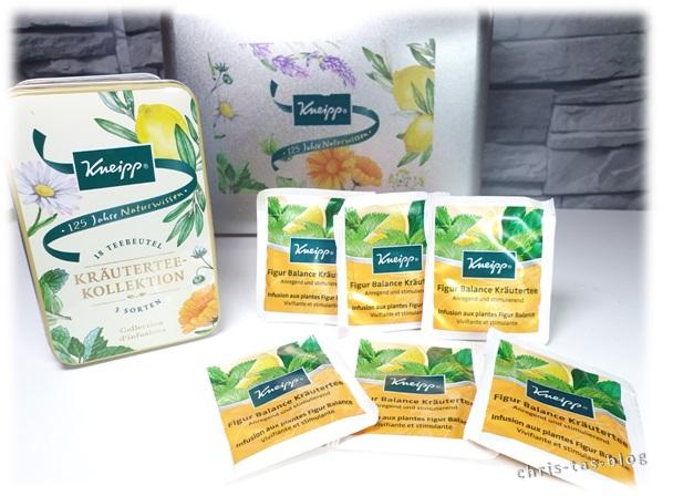 Kneipp Kräutertee-Kollektion Teedose und Teebeutel