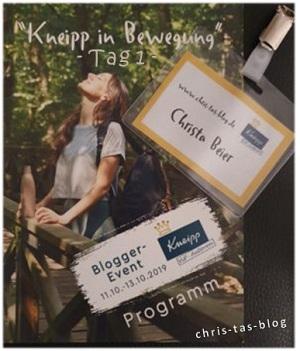 Der erste Tag beim Kneipp VIP-Autoren-Event 2019