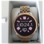Michael Kors Lexington Smartwatch Modell MKT5080 im Two-Tone-Look