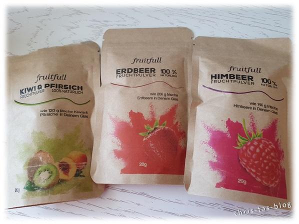 Beutel gefriergetrockneter Früchte von fruitfull