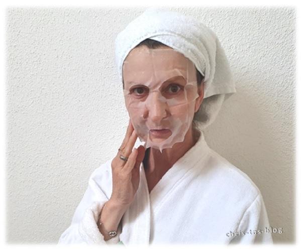 Anwendung Tuchmaske von Kneipp