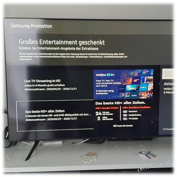 großes Entertainment zum Samsung QLED TV